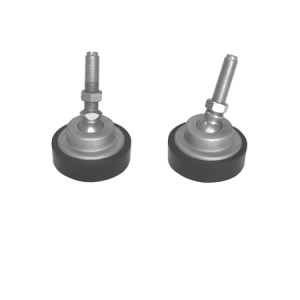 AMF Active Load Cell Feet, Alloy Steel with Plated Finish, Swivel Design