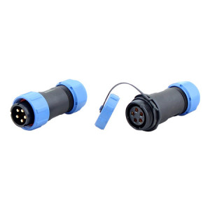 CCP Load Cell Cable Connector with Threaded Coupling, Nylon 66, IP68