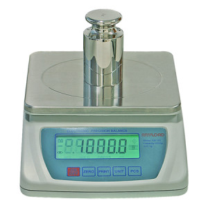 EB100 Precision Balance, Division 0.1g, LCD 6-Digit Display, 16 Units of Measurement, RS-232 Communication Port