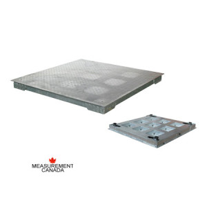 ANYLOAD | FSP-GH Hot Dip Galvanized Heavy Duty Mild Steel Floor Scale, Measurement Canada Approved Floor Scale