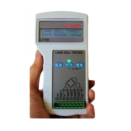 LCT100 load cell tester, ABS, 4xAA batteries