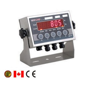 805TS-B-17 Digital Weight Indicator, LED Display, Stainless Steel, NTEP and Measurement Canada Certified