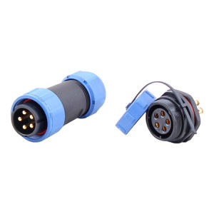 CCS Load Cell Cable Connector with Threaded Coupling, Nylon 66, IP68