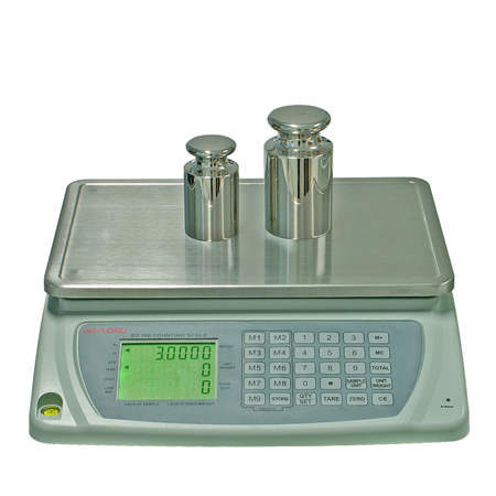 EC100 Counting Scale, LCD 7-Digit 3-Line Display