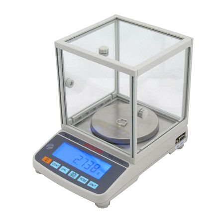 ES-HA Precision Balance, Division 0.001g, LCD 6-Digit Display, RS-232 Communication Port