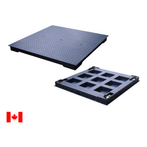 FSP-HD Legal for Trade Heavy Duty Mild Steel Floor Scale, Measurement Canada Certified, NTEP Certified Load Cells
