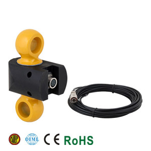 110RH Dynamometer and Tension Link Load Cell, Alloy Steel with Nylon Protection, Environmentally Sealed, IP65