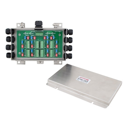 J08ES and J08SS Load Cell Junction Box, Stainless Steel SS304, IP65
