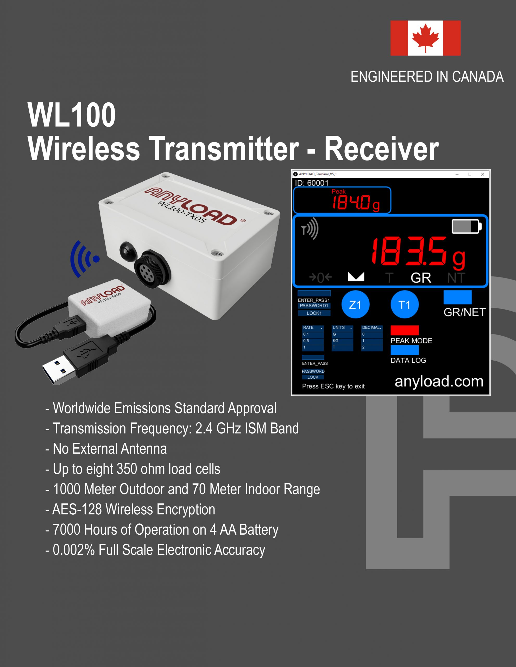 The New Anyload WL100 Wireless Transmitter-Receiver